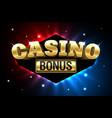 casino welcome bonus first deposit bonus banner vector image