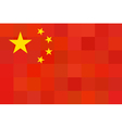 China Flag Original proportion and colors vector image vector image