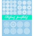 Christmas snowflake decoration set isolated on