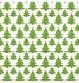Christmas tree seamless pattern endless vector image vector image