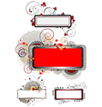 Collection banners with decor of the texture vector image