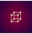 cube icon concept for design vector image vector image
