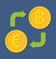Currency exchange Euro and Baht vector image vector image