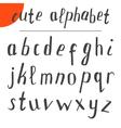 Cute hand drawn alphabet font vector image
