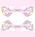 delicate pink background with floral pattern vector image