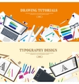 Digital drawing graphic design Workplace vector image
