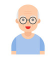 elderly man avatar flat icon vector image vector image
