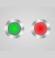 electronic power button vector image vector image