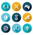 eSports Icons Set vector image vector image