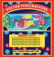 firecracker label vector image vector image