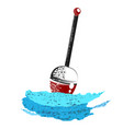 fishing float on wave vector image