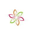 flower colorful abstract beauty logo vector image vector image