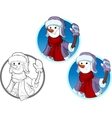 Funny Snowman the New Year character vector image vector image