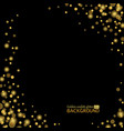 gold confetti glitter sparkling dots on black vector image