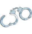 handcuffs icon in trendy flat design vector image vector image