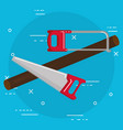 handsaw and saw tools vector image