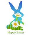 happy easter holiday with e vector image