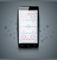 hockey court sport temlate sport vector image
