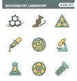 icons line set premium quality biochemistry vector image vector image