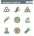 Icons line set premium quality of biochemistry vector image vector image
