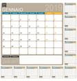 italian calendar 2019 vector image vector image