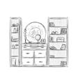Kitchen cupboard kitchen shelves Furniture vector image vector image