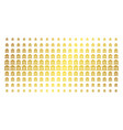 library building gold halftone effect vector image