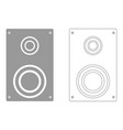 loud speaker set icon vector image vector image