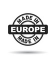 made in europe black stamp on white background vector image vector image