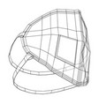 medical surgical mask blueprint style vector image vector image