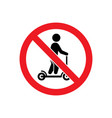 no scooter allowed glyph icon vector image