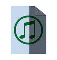 note music melody sound button web icon vector image vector image