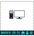 pc icon flat vector image