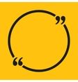 Quote Circle Blank Template Bracket vector image