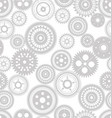 seamless gear modern background template vector image