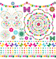 Set colorful design elements vector image vector image