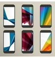 Set of abstract savers for screens vector image vector image