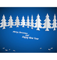 Simple christmas paper trees vector image vector image