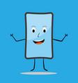 smiling smartphone joyful emotion vector image vector image