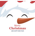 snowman christmas card over white poster vector image vector image