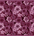 sophisticated pink burgundy floral pattern vector image vector image
