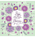 summer flowers birthday vector image vector image