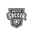 template emblem for soccer championship vector image