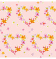 Tropical Hearts Flowers Backgrounds vector image vector image