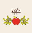 vegetarian food design vector image vector image
