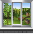 View from window of landscape of Summer vector image
