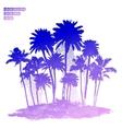vintage island in ocean vector image vector image