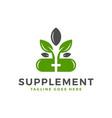 vitamin supplement inspiration logo vector image vector image