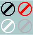 sign prohibiton interdiction ban vector image