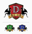 Double dragon crest logo vector image